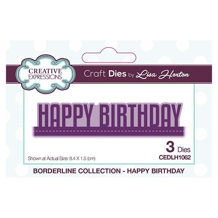 Creative Expressions Borderline Collection Happy Birthday