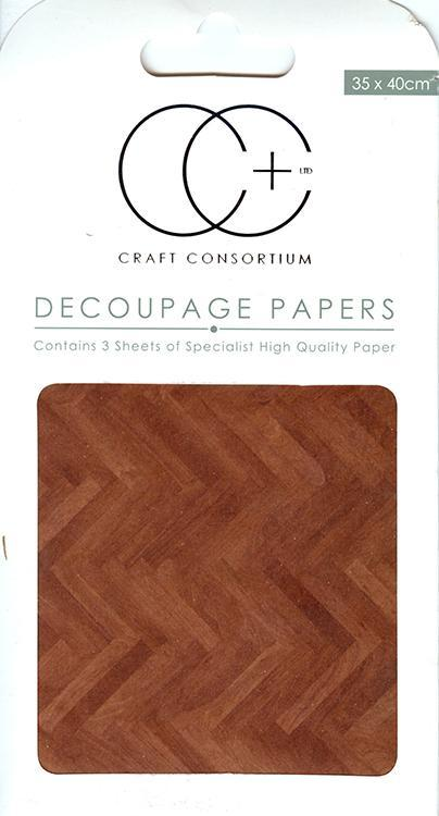 Parquet Floor Decoupage Papers