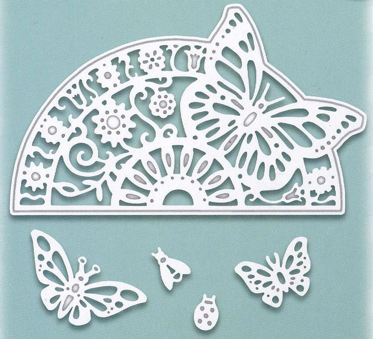 Creative Expressions: Paper Cuts Collection Butterfly Circle