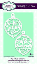 Creative Expressions Die Paper Cuts Collection - Seasons Greetings Bauble Duo