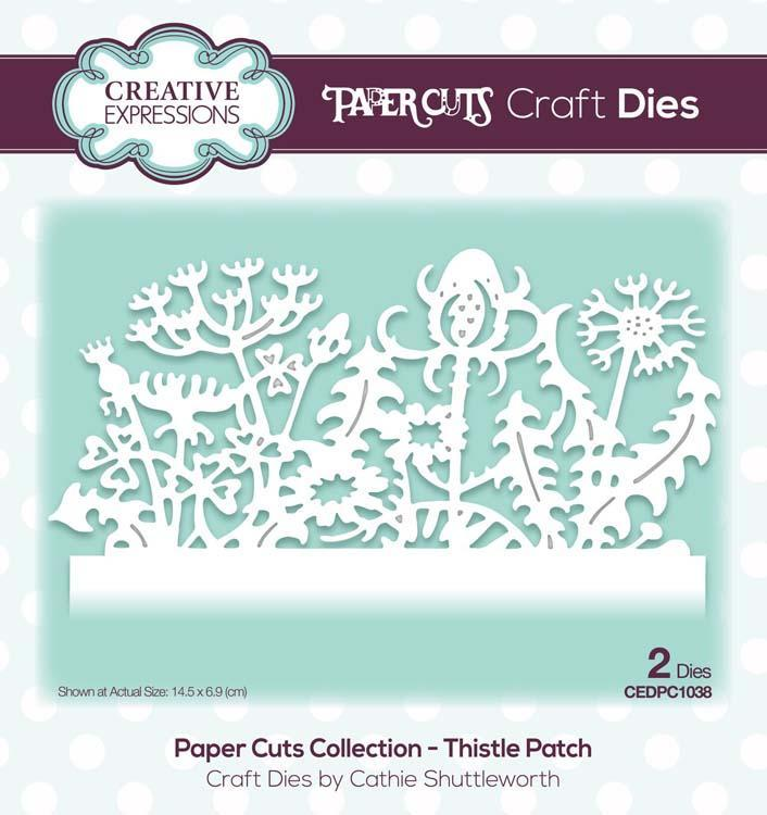 Paper Cuts Collection Thistle Patch Craft Die