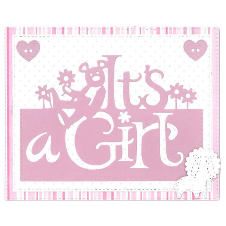 Creative Expressions Paper Cuts Collection - It's a Girl Edger