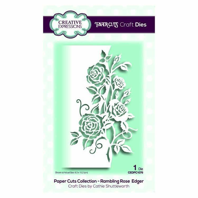 Creative Expressions Paper Cuts Collection - Rambling Rose  Edger