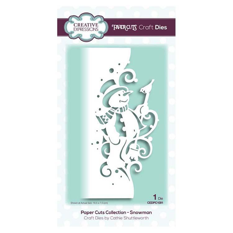 Creative Expressions Paper Cuts Collection - Snowman