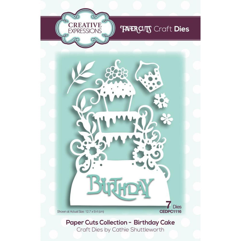 Paper Cuts Birthday Cake Craft Die