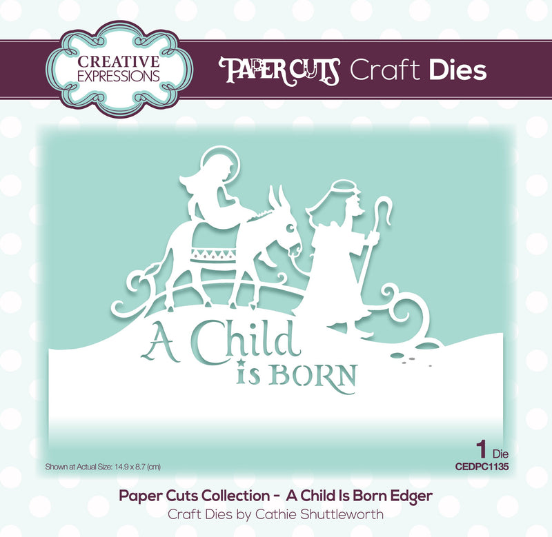 Paper Cuts Edger A Child Is Born Craft Die