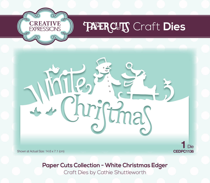 Paper Cuts Edger White Christmas Craft Die