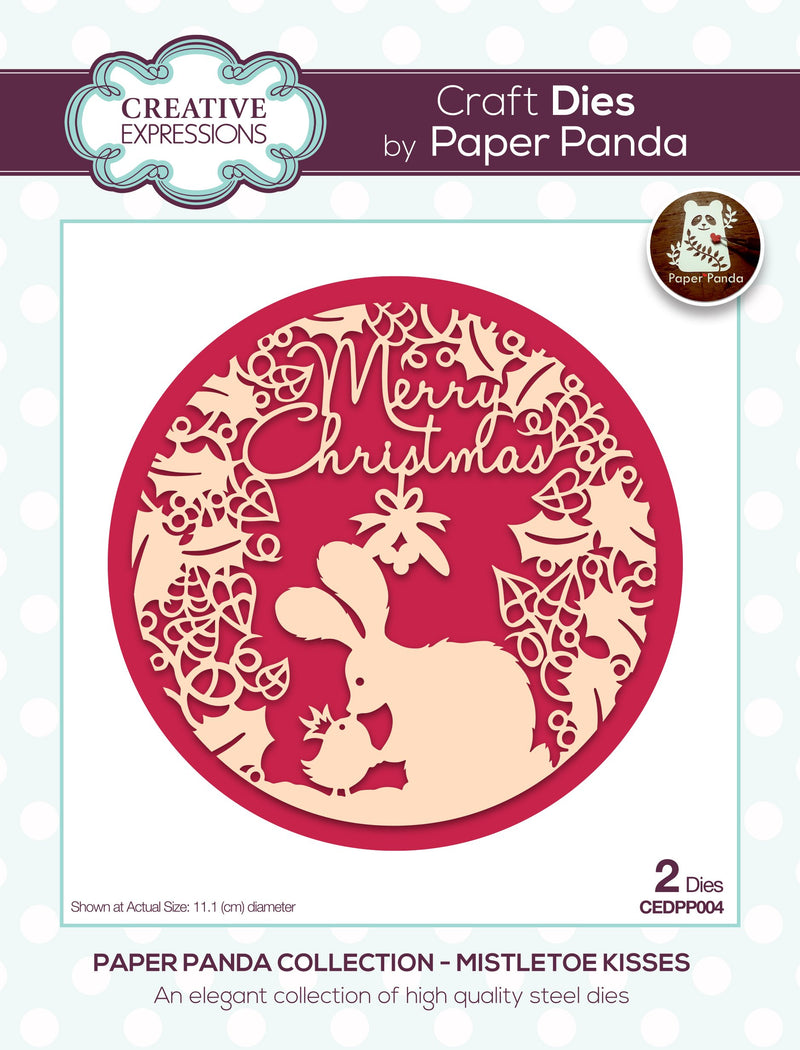 Paper Panda Merry Christmas Craft Die