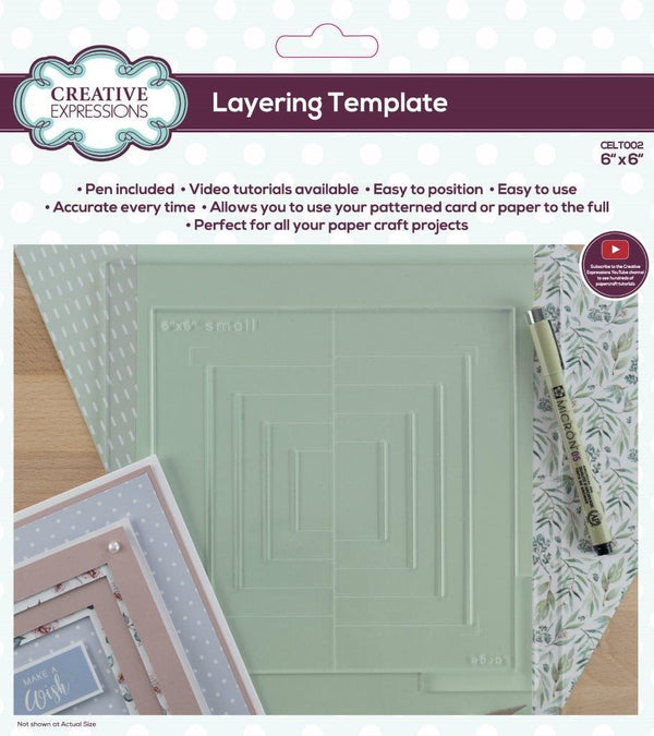 Layering Template 6 in x 6 in