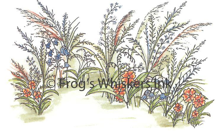 Frog's Whiskers Stamps - Wildflower Background