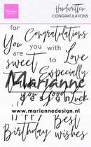 Handwritten - Congratulations Clear Stamps