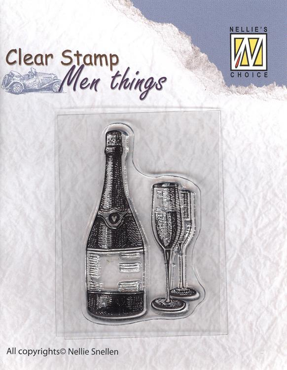 Nellie's Choice - Clear Stamp Men Things - Wine