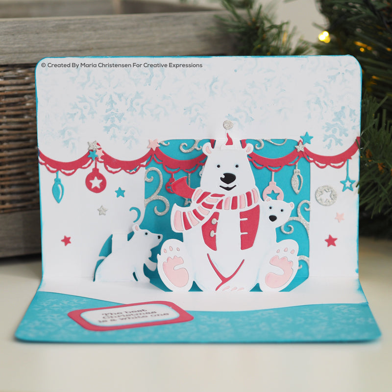 Paper Cuts Pop Up Beary Christmas Craft Die