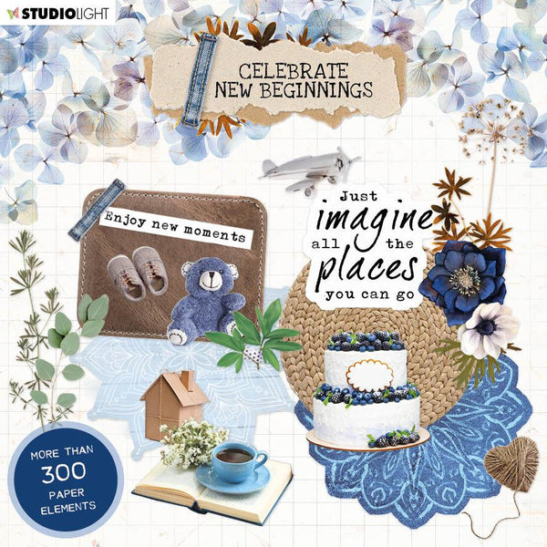 Die Cut Block Paper Elements Celebrate New Beginnings 150x150mm nr.666