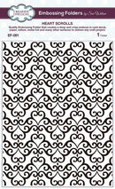 Creative Expressions Embossing Folder 5 3/4 x 7 1/2  Heart Scrolls