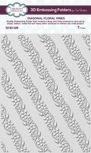 Creative Expressions Diagonal Floral Vines 3D 5 3/4 x 7 1/2 3D Embossing Folder