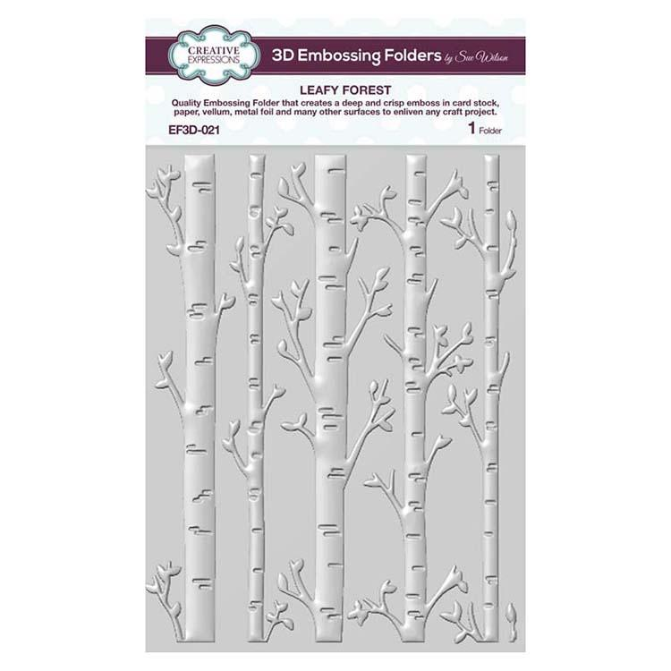 3D Embossing Folder 5 3/4 x 7 1/2 Leafy Forest
