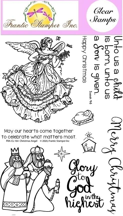 Frantic Stamper Clear Stamp Set - Christmas Angel