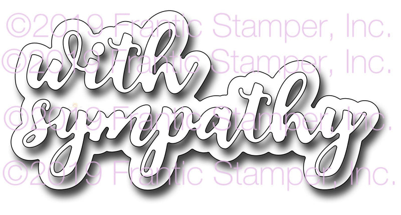 Frantic Stamper Precision Die - Layered With Sympathy