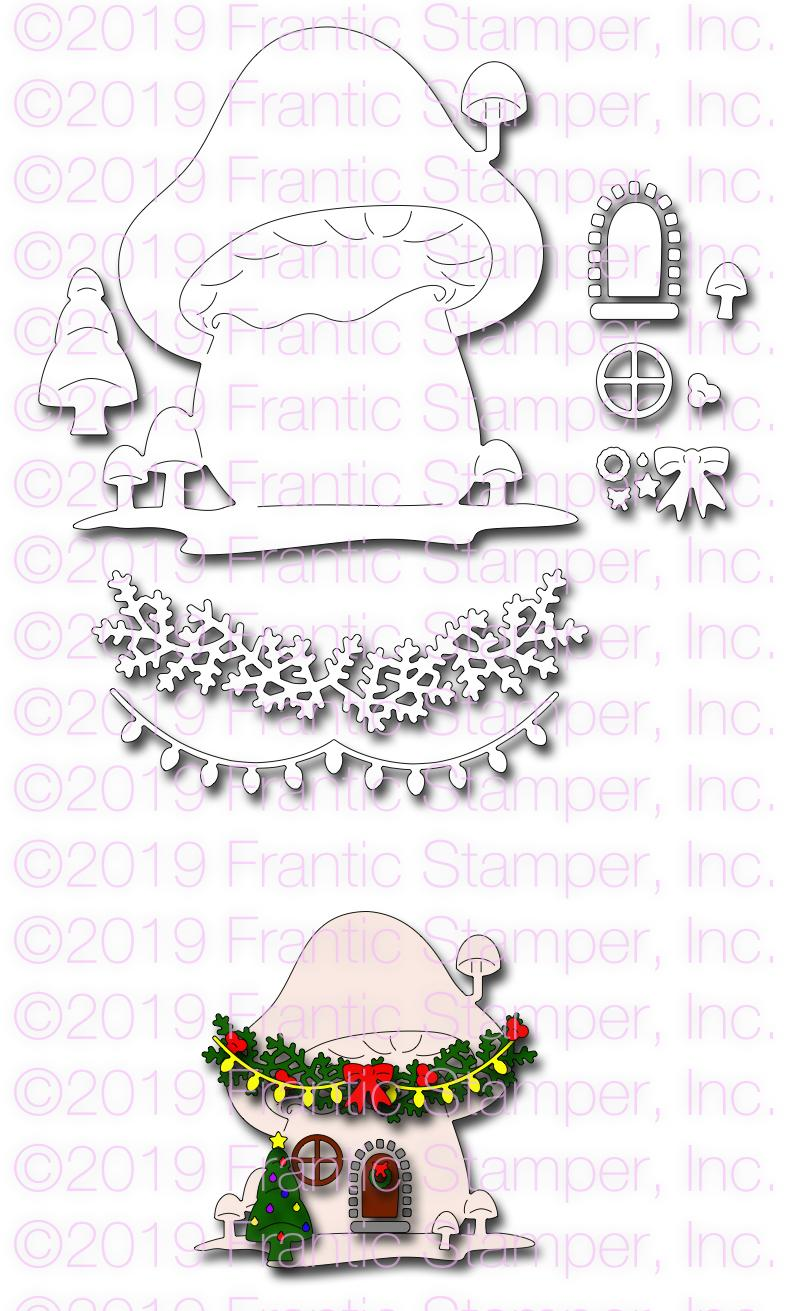 Frantic Stamper Precision Die - Gnome Home