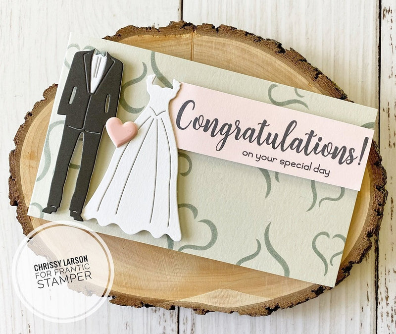 Frantic Stamper Precision Die - Wedding Attire������