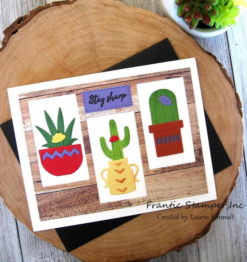 Frantic Stamper Precision Die - Potted Cacti