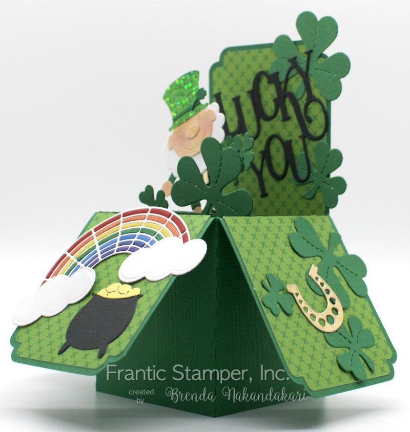 Frantic Stamper Precision Die - Happy Leprechaun