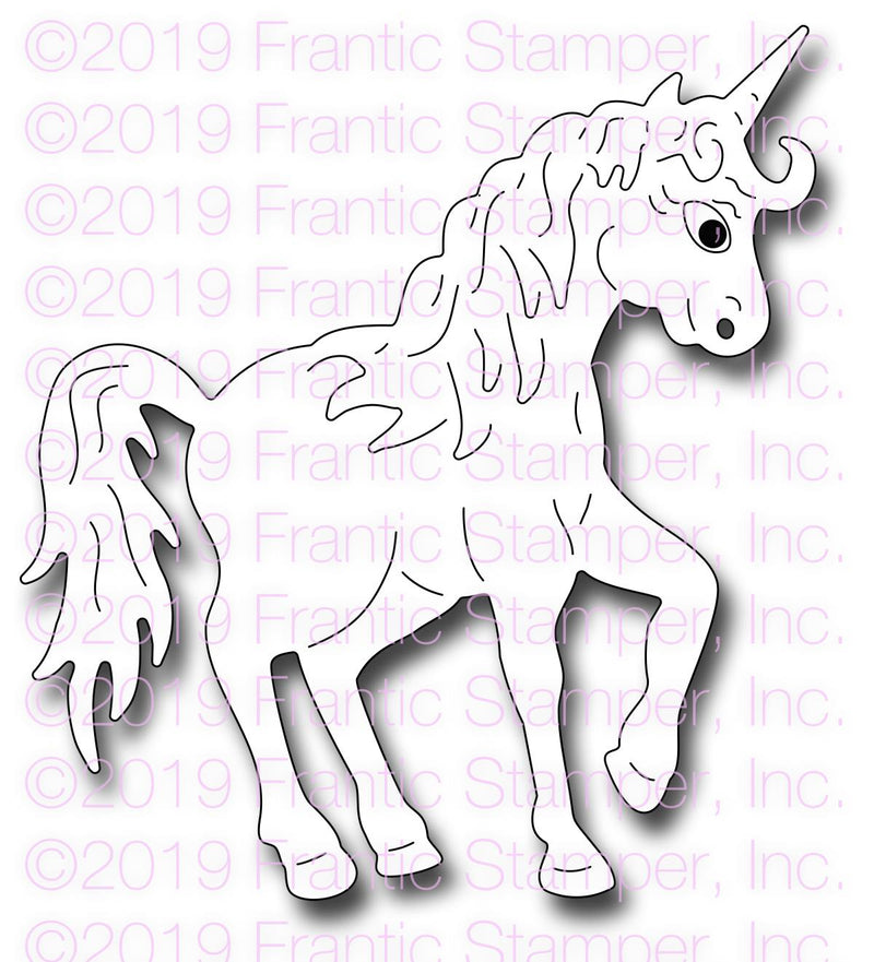 Frantic Stamper Precision Die - Majestic Unicorn