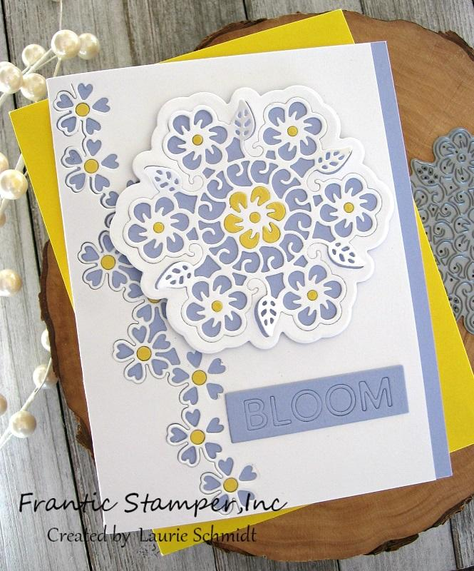 Frantic Stamper Precision Die - Garden Reverse-cut Words