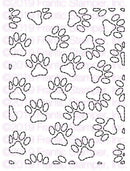 Frantic Stamper Precision Die - Stitched Paw Print Background