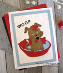 Frantic Stamper Precision Die - Reverse-Cut Doggy Words