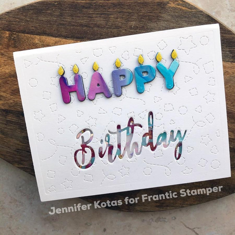 Frantic Stamper Precision Die - Happy Birthday Candles