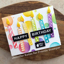 Frantic Stamper Precision Die - Patterned Birthday Candles