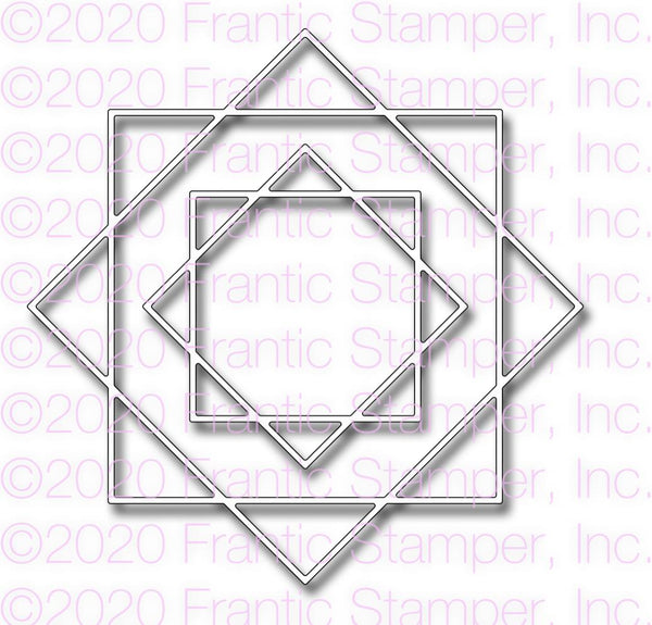 Frantic Stamper Precision Die - Interlocking Squares Frame