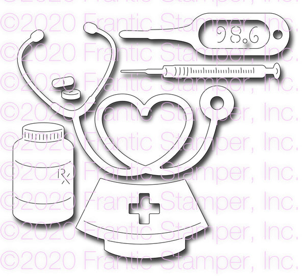 Frantic Stamper Precision Die - Nurse's Gear