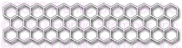 Frantic Stamper Precision Die - Honeycomb Border