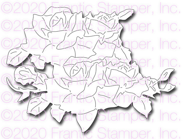 Frantic Stamper Precision Die - Rose Bush