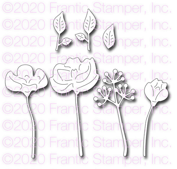 Frantic Stamper Precision Die - Long Stem Flowers