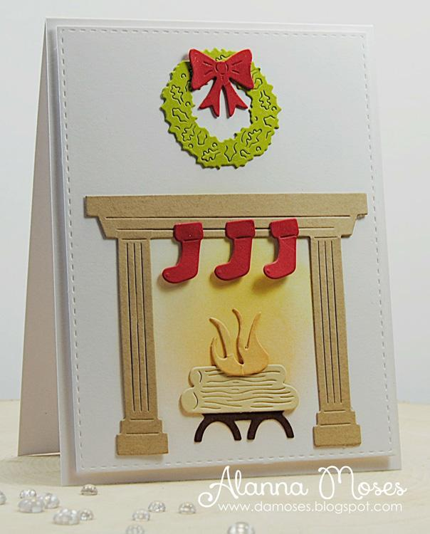 Frantic Stamper Precision Die - Fireplace Holiday Extras