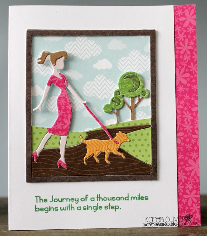 Frantic Stamper Precision Die - Walking the dog