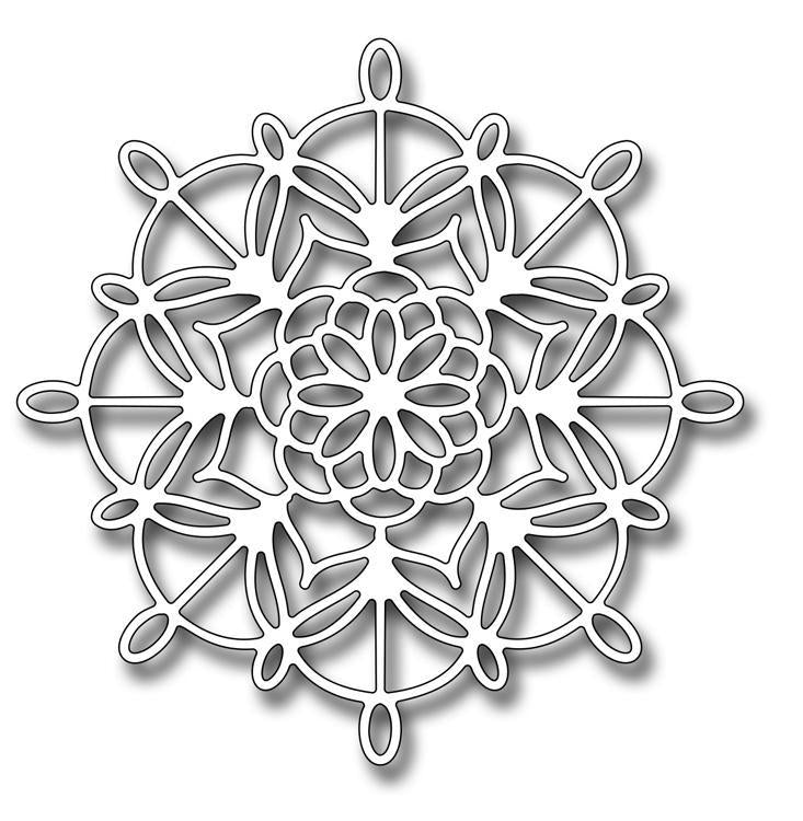 Frantic Stamper Precision Die - Lace Geometric Flower Doily