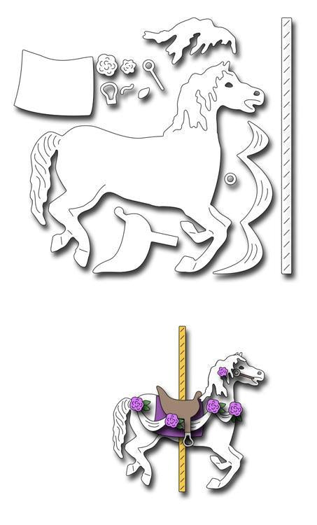 Frantic Stamper Precision Die - Large Carousel Horse
