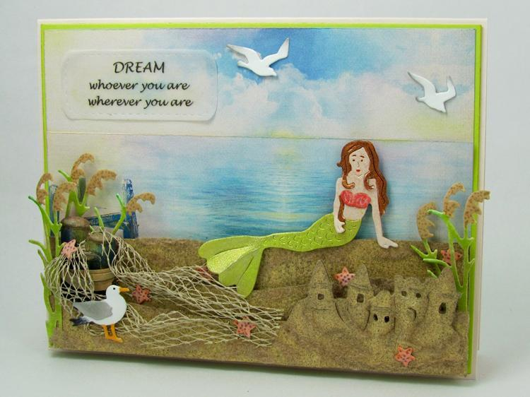 Frantic Stamper Precision Die - Lounging Mermaid