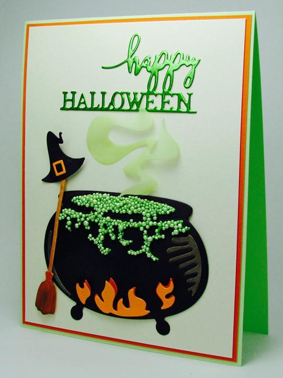 Frantic Stamper Precision Die - Happy Halloween Medallion