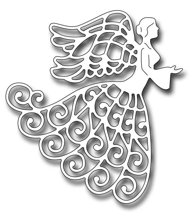 Frantic Stamper Precision Die - Lace Angel