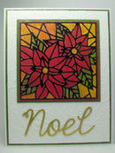 Frantic Stamper Precision Die - Poinsettia Stained-glass Square