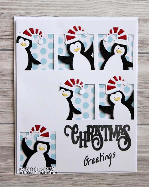 Frantic Stamper Precision Die - Peeking Penguins