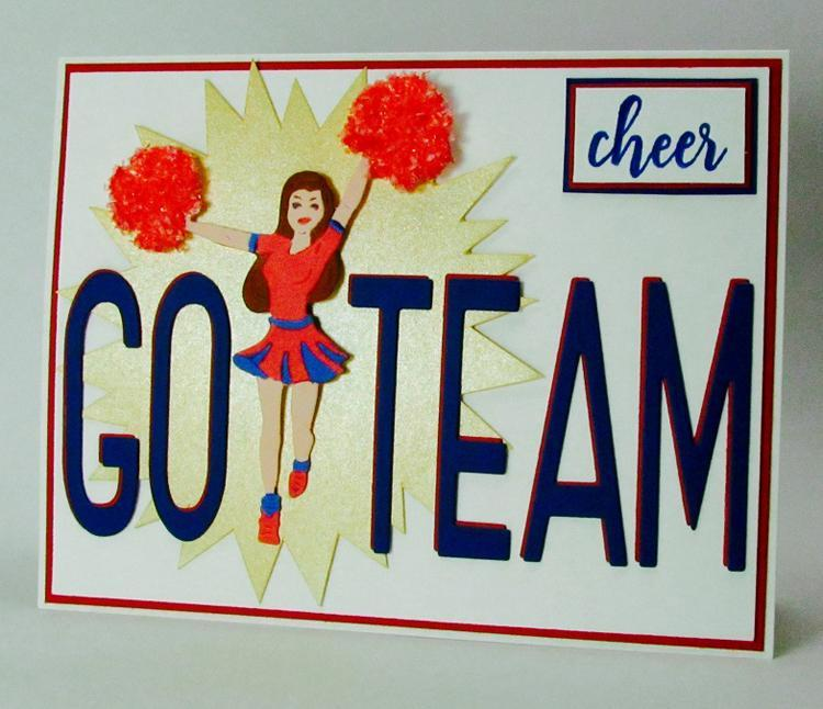 Frantic Stamper Precision Die - Cheerleader