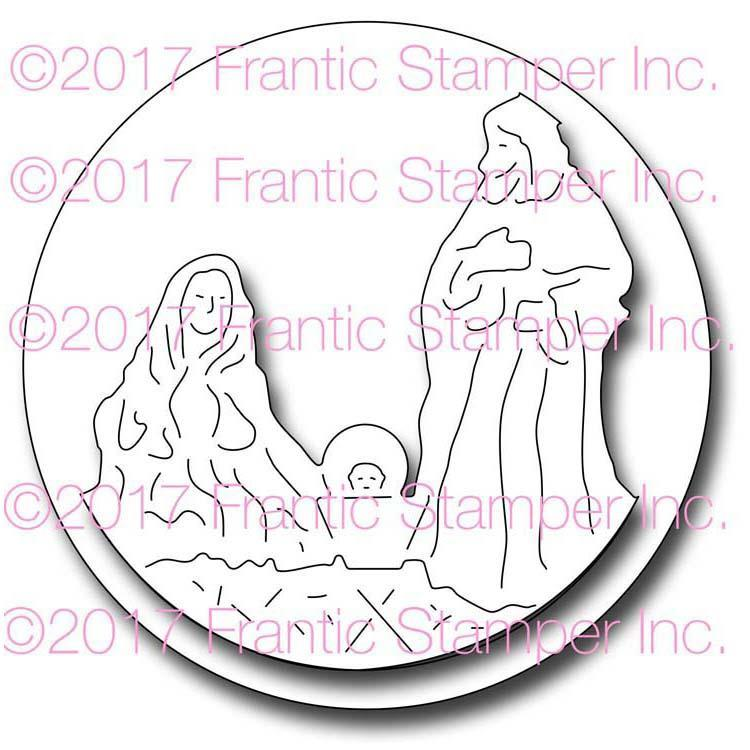 Frantic Stamper Precision Die - Framed Nativity