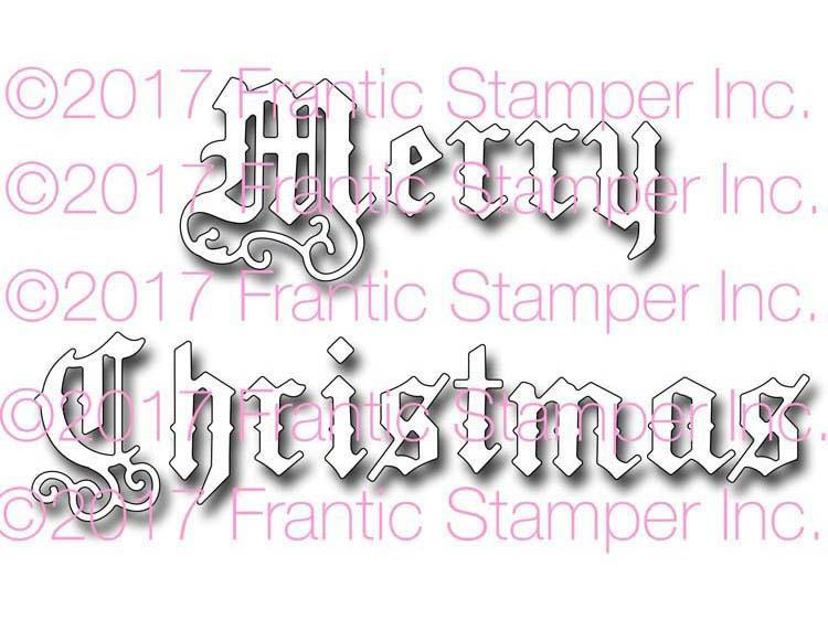Frantic Stamper Precision Die - Old English Merry Christmas